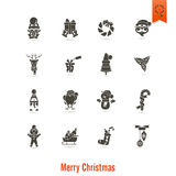 Christmas and Winter Icons Collection Royalty Free Stock Photo