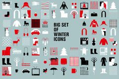Christmas and Winter icons collection - vector. Stock Photos