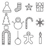 Christmas and Winter icons collection. Vector eps10. Stock Photo