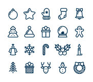 Christmas and Winter icons collection - vector Royalty Free Stock Photos