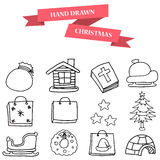 Christmas winter icons set vector Stock Photography
