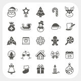 Christmas and Winter icons set Stock Photography