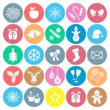 Christmas and winter icons Stock Image