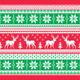 Christmas and Winter knitted pattern, card - scandynavian sweater style Stock Photo