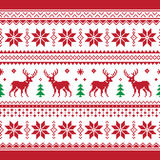 Christmas and Winter knitted seamless pattern or c royalty free stock image