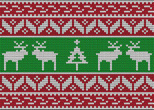 Christmas and Winter knitted seamless pattern Stock Photography