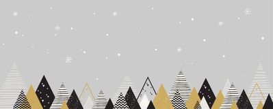 Christmas winter landscape background. Abstract Vector. Illustration. merry christmas banner Royalty Free Stock Image