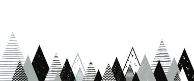 Christmas winter landscape background. Abstract Vector. Illustration. merry christmas banner Stock Images