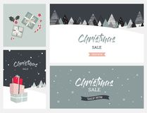 Christmas winter landscape background. christmas sale. Abstract Vector Stock Image