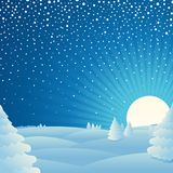 Christmas winter landscape background Picture Royalty Free Stock Photo