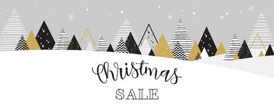 Christmas winter landscape background. christmas sale. Abstract Vector Stock Photo