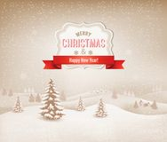 Christmas winter landscape background. Vecctor Stock Images
