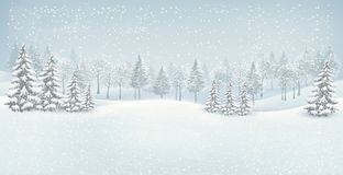 Christmas winter landscape background. stock photo