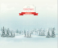 Christmas winter landscape background. Vector Royalty Free Stock Photos