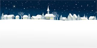 Christmas winter landscape stock illustration
