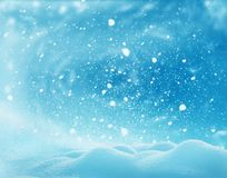 Christmas winter landscape with snow .Merry Christmas and happy Royalty Free Stock Photography