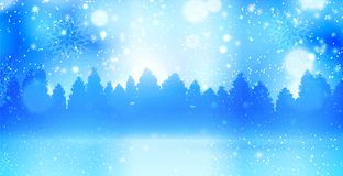 Christmas winter landscape Stock Images