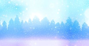 Christmas winter landscape Stock Photos