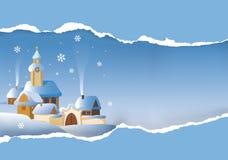 Christmas winter landscape. Royalty Free Stock Image