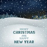 Christmas winter night Royalty Free Stock Photo