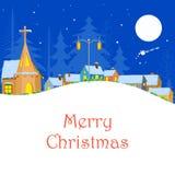 Christmas Winter Night Stock Photo