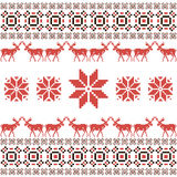 Christmas and Winter Norwegian seamless pattern Stock Image