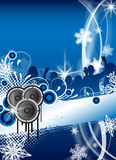 Christmas / winter party flyer Stock Image