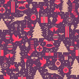 Christmas winter pattern Royalty Free Stock Images