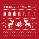 Christmas winter pattern print for jersey Royalty Free Stock Image