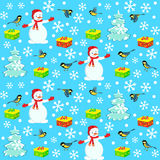 Christmas, winter pattern,seamless Stock Photography