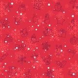 Christmas winter pattern Stock Photo