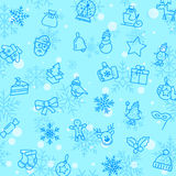Christmas winter pattern Stock Image