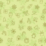 Christmas winter pattern Royalty Free Stock Photography