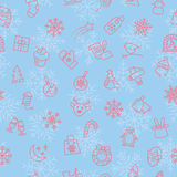 Christmas winter pattern Royalty Free Stock Image