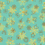 Christmas winter pattern Stock Images