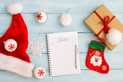 Christmas or winter planning concept Stock Photos