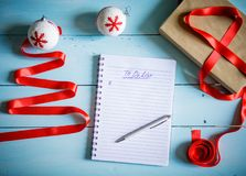 Christmas or winter planning concept Stock Image