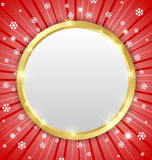 Christmas winter plaque Royalty Free Stock Photos