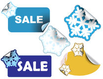 Christmas winter sale labels Royalty Free Stock Photos