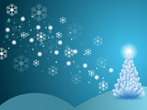 Christmas winter scene Royalty Free Stock Photos