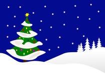 Christmas Winter Scene Royalty Free Stock Photography