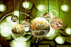 Christmas, Winter, Snow, Village Royalty Free Stock Photos