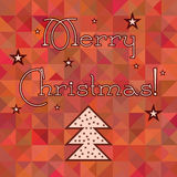 Christmas winter snowflakes red pattern background Royalty Free Stock Images