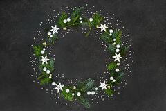 Christmas and Winter Solstice Wreath Decoration