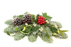 Christmas and Winter Table Decoration Stock Photo