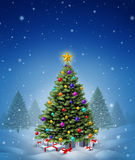 Christmas Winter Tree Stock Image