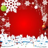 Christmas Winter Vector Backgr. Ound Design Stock Images