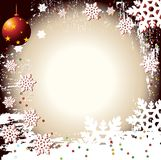 Christmas Winter Vector Backgr. Ound Design Royalty Free Stock Photo