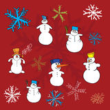 Christmas winter vectors Stock Image