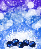 Christmas Winter Wallpaper. Winter Wallpaper background with glitter stars and snowflakes Stock Image